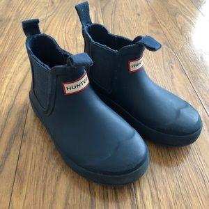 Hunter Flat Sole Chelsea Boot - Dark Blue